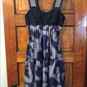 Development by Erica Davies Navy Scroll Dress 0
